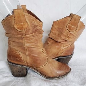Aldo western leather ankle boots
